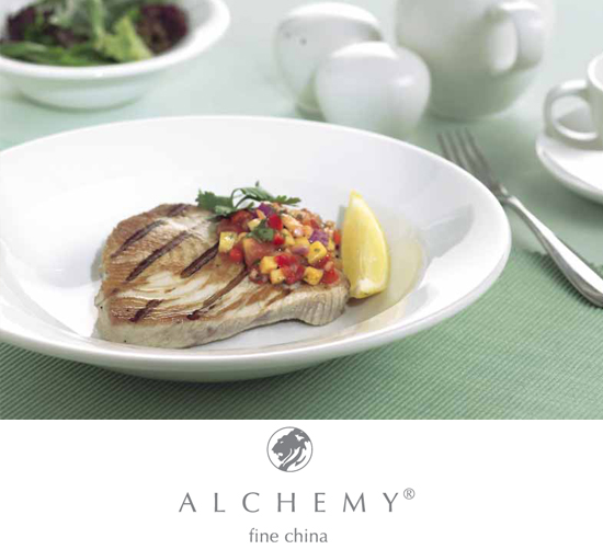 Alchemy White Fine China