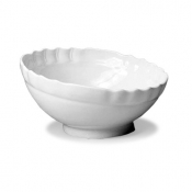 Barocco Royale White Inclined Salad Bowl Cm 38