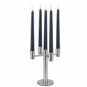 Candelabra 5 Light 20.5 Inches Satin Stainless