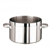 Saucepot 2 Handles Cm 28 Stainless Steel Paderno 1100 Line