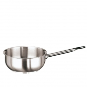 Curved Saute Pan Cm 24 Stainless Steel Paderno 1100 Line