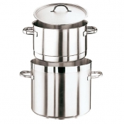 Potato Steamer Pot With Lid Cm 28 Stainless Steel Paderno 1100 Line