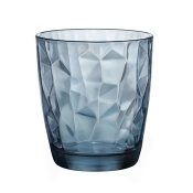 Diamond Set 3 Bicchieri Acqua 30,5 cl Blue