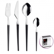 Freccia Black Set Cutlery 24 Pcs Pinti