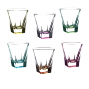 Fusion Color Set 6 Bicchieri Dof Acqua 27 cl Crystal Glass