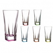 Fusion Colours Set 6 Bicchieri Hb Long Drink 38 cl Crystal Glass