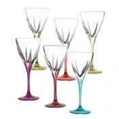 Fusion Color Set 6 Calici Acqua 25 cl Crystal Glass