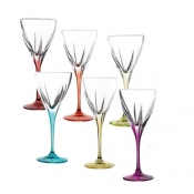 Fusion Color Set 6 Calici Liquore 7 cl Crystal Glass