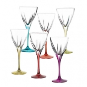 Fusion Color Set 6 Calici Vino 21 cl Crystal Glass