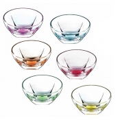 Fusion Color Set 6 Coppette Ø 135 mm Crystal Glass