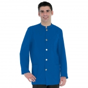 Jacket Banconiere Royal Blue With Stand Up Collar