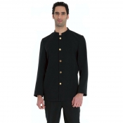 Jacket Barman Black With Braidings