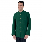 Jacket Unisex Barman With Braidings Green