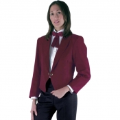 Jacket Unisex Spencer Burgundy With Golden Front Links