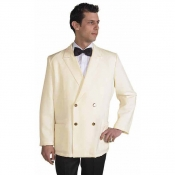 Jacket Double Breasted Freddy Cream With Golden Bottons