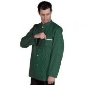 Jacket Vergatina Green/Black Striped With Golden Bottons