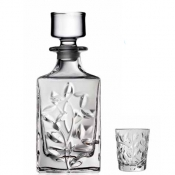 Laurus Set Liquore 7/Pz Crystal Glass
