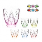 Ninphea color Set 6 Bicchieri Acqua 32,6 cl Crystal Glass