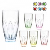 Ninphea color Set 6 Bicchieri Bibita 40 cl Crystal Glass