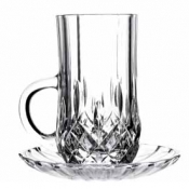 Opera Set 6 Bicchieri 14 cl C/Piattino Crystal Glass