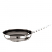 Frypan With Non Stick Coating Cm 28 Stainless Steel Paderno 1100 Line