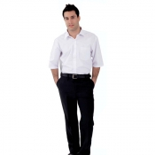 Man Trousers Black With Zipfly