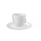 Perla Bone China Set 6 Tazze Caffè Cl 8,5 C/Piattino