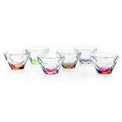 Riflessi Bicolour Set 6 Coppe Gelato 30 cl Crystal Glass