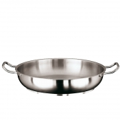 French Omelet Pans Cm 36 Stainless Steel Paderno 1100 Line