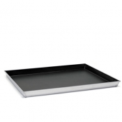 Non-Stick Coating Rectangular Baking Sheet Tapared Sides Cm 40x30 Aluminium Ballarini 2000 Line